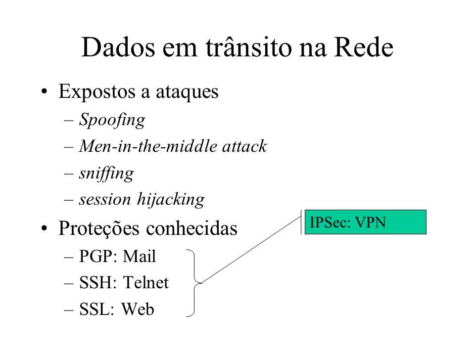 Dados em trânsito na Rede