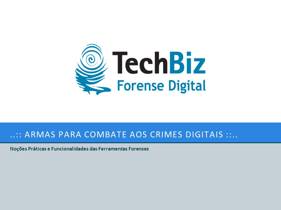 ..:: Armas para combate aos crimes digitais ::..