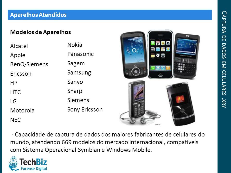 Captura de dados em celulares .xry