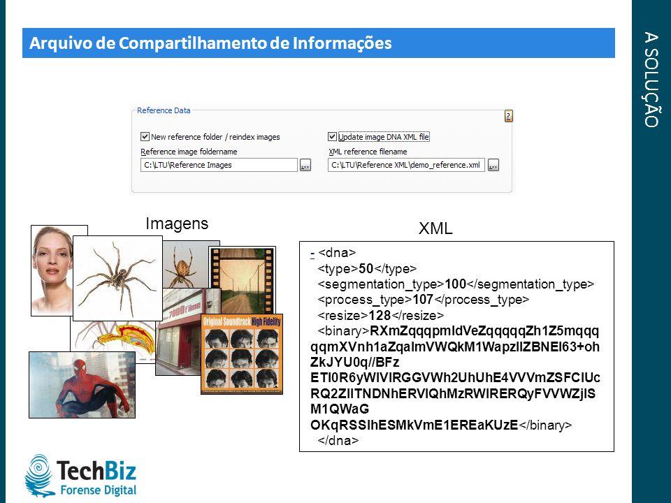A SOLUÇÃO Arquivo de Compartilhamento de Informações Imagens XML