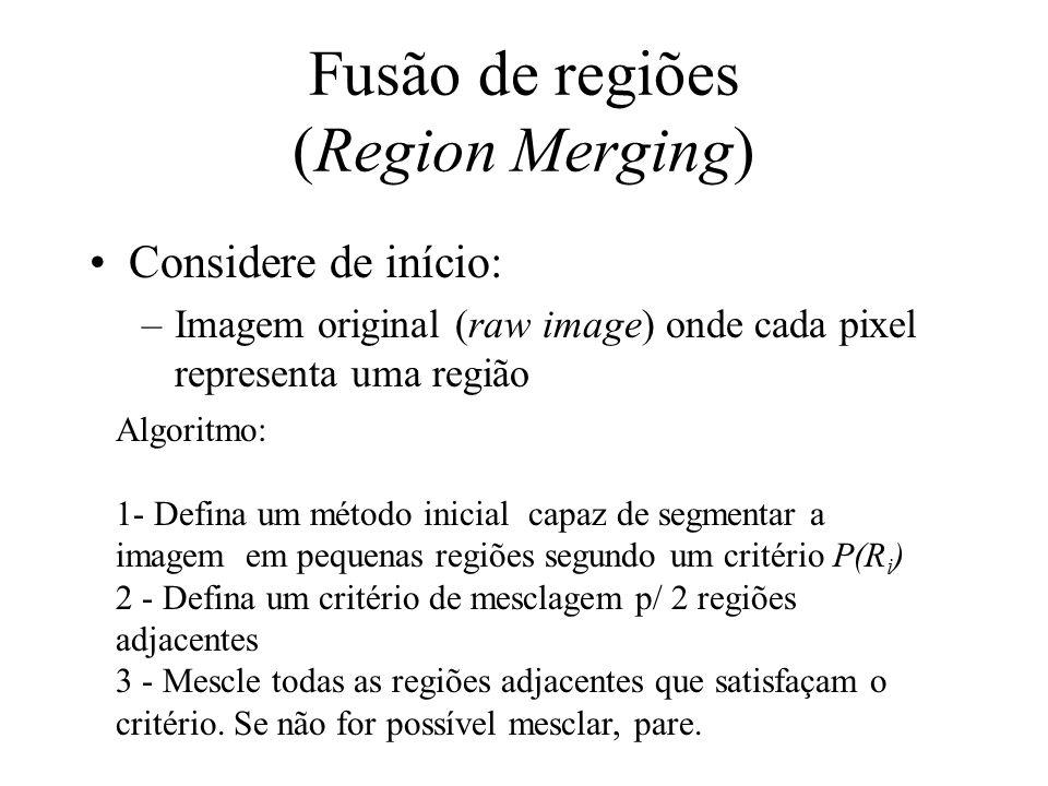 Fusão de regiões (Region Merging)