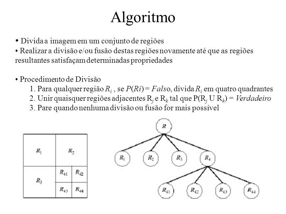 Algoritmo Divida a imagem em um conjunto de regiões