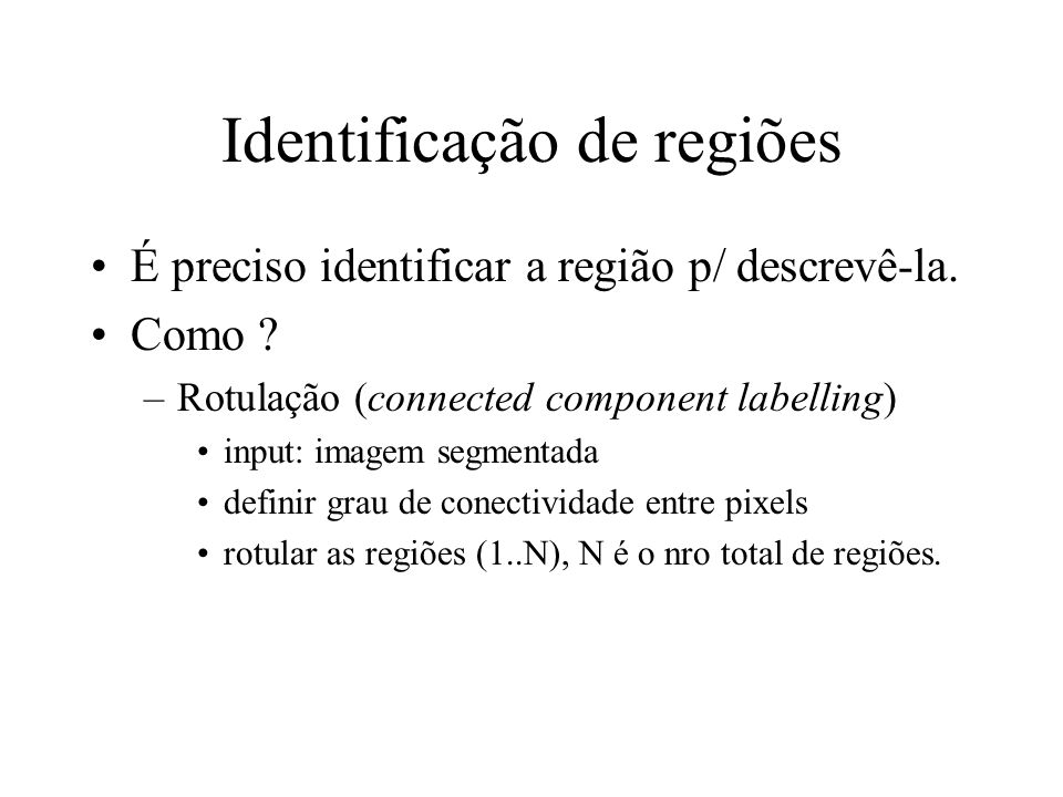 Identificação de regiões
