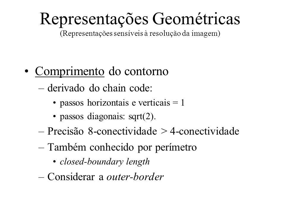 Representações Geométricas (Representações sensíveis à resolução da imagem)