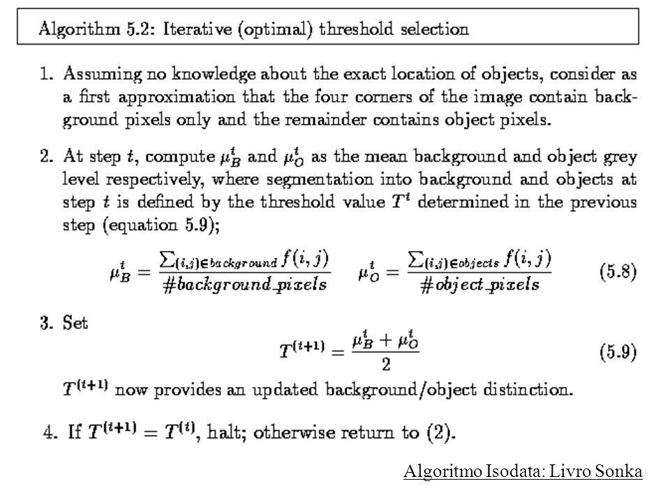 Algoritmo Isodata: Livro Sonka