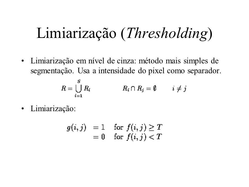 Limiarização (Thresholding)