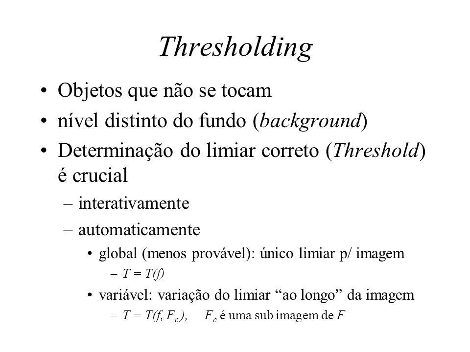 Thresholding Objetos que não se tocam