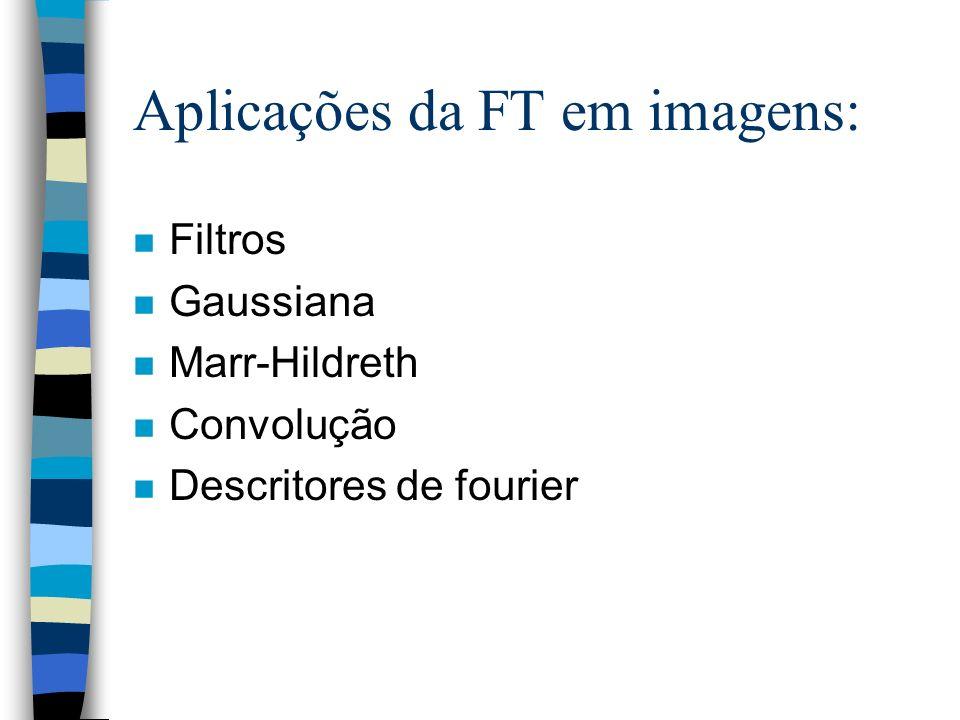 Aplicações da FT em imagens: