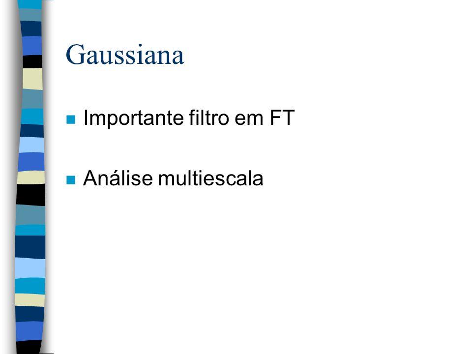 Gaussiana Importante filtro em FT Análise multiescala