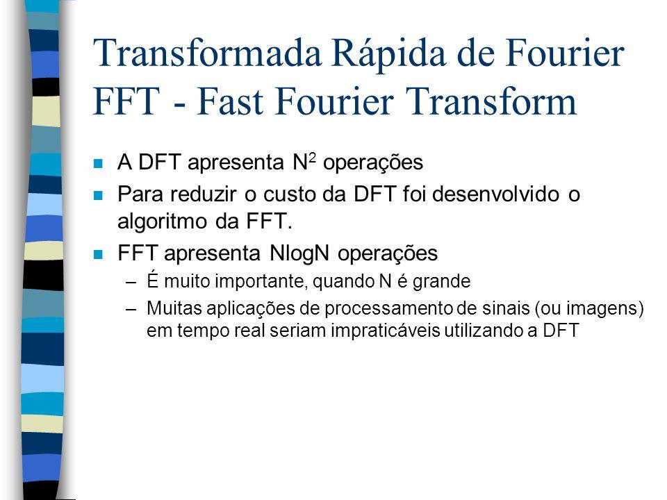 Transformada Rápida de Fourier FFT - Fast Fourier Transform