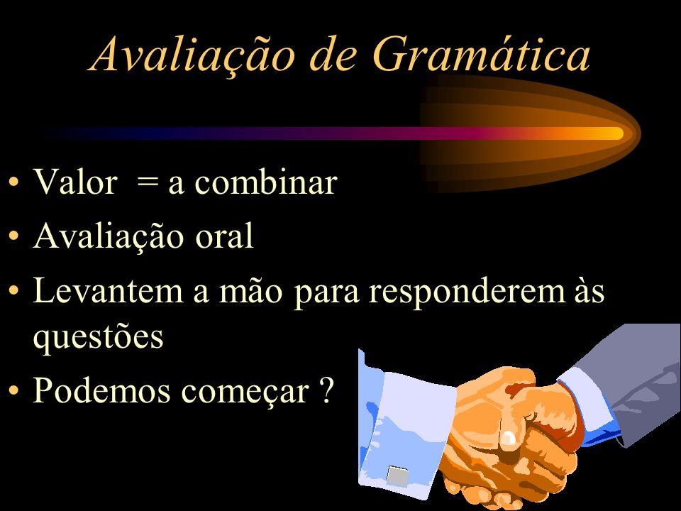 Avaliação de Gramática