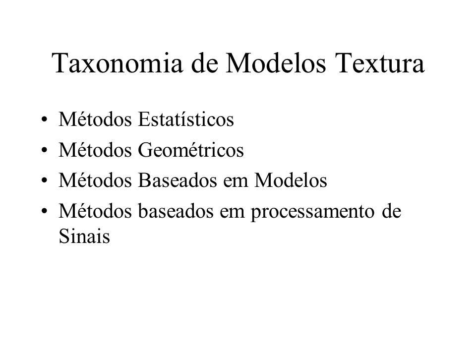 Taxonomia de Modelos Textura