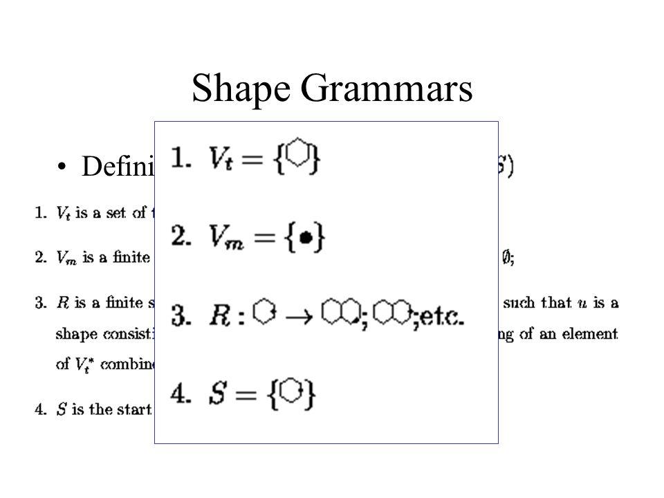 Shape Grammars Definida pela tupla: