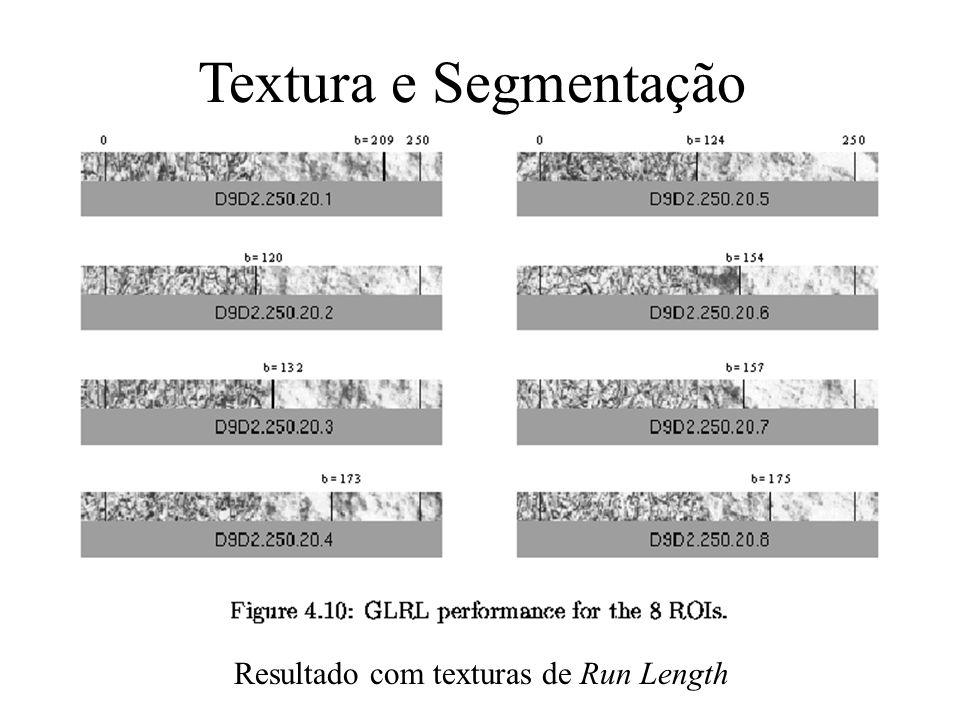 Textura e Segmentação Resultado com texturas de Run Length