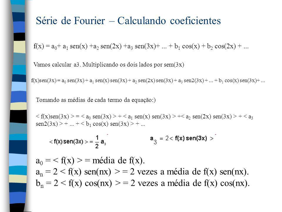 Série de Fourier – Calculando coeficientes