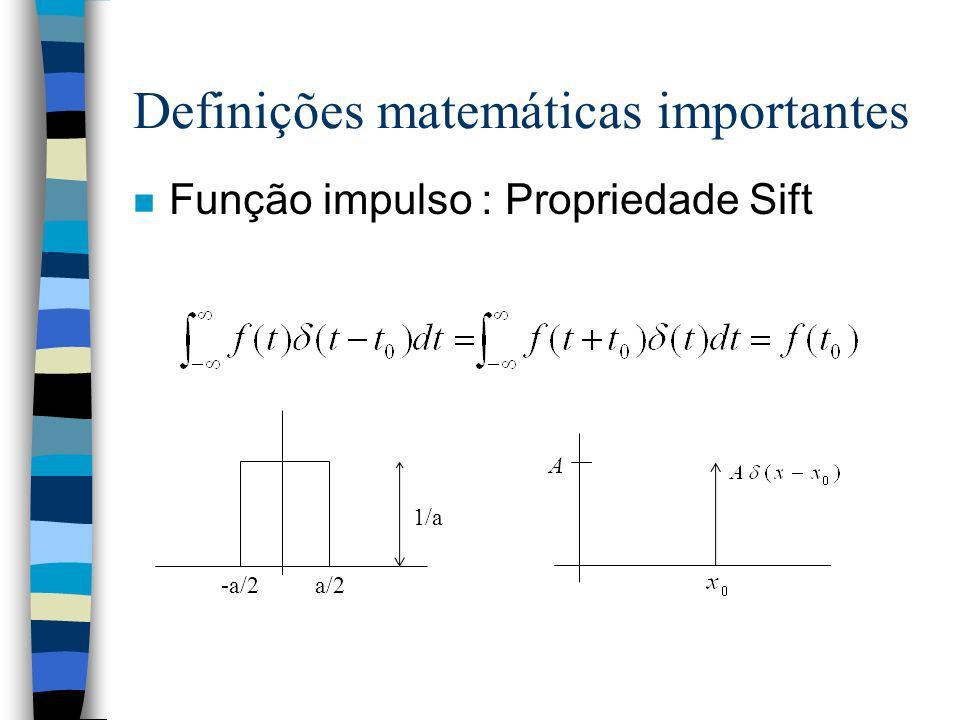 Definições matemáticas importantes
