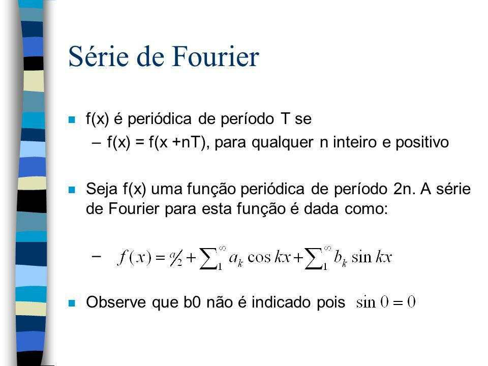 Série de Fourier f(x) é periódica de período T se