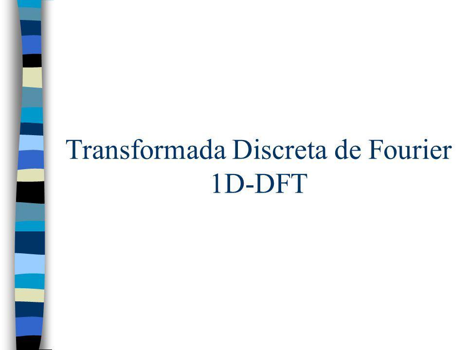 Transformada Discreta de Fourier 1D-DFT