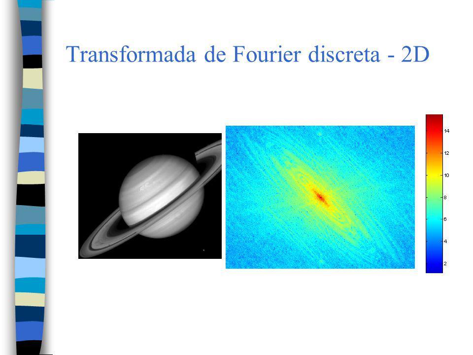 Transformada de Fourier discreta - 2D