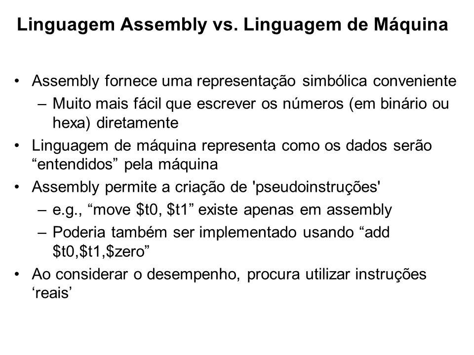 Linguagem Assembly vs. Linguagem de Máquina