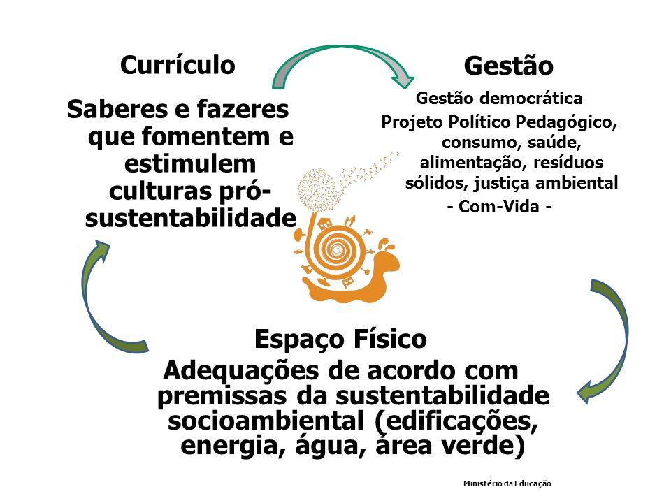 CurrículoSaberes e fazeres que fomentem e estimulem culturas pró- sustentabilidade. Gestão. Gestão democrática.
