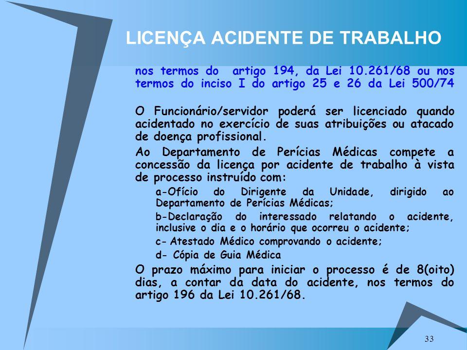 LICENÇA ACIDENTE DE TRABALHO