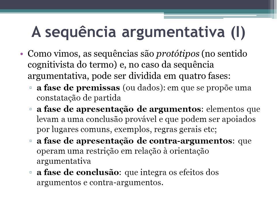 A sequência argumentativa (I)
