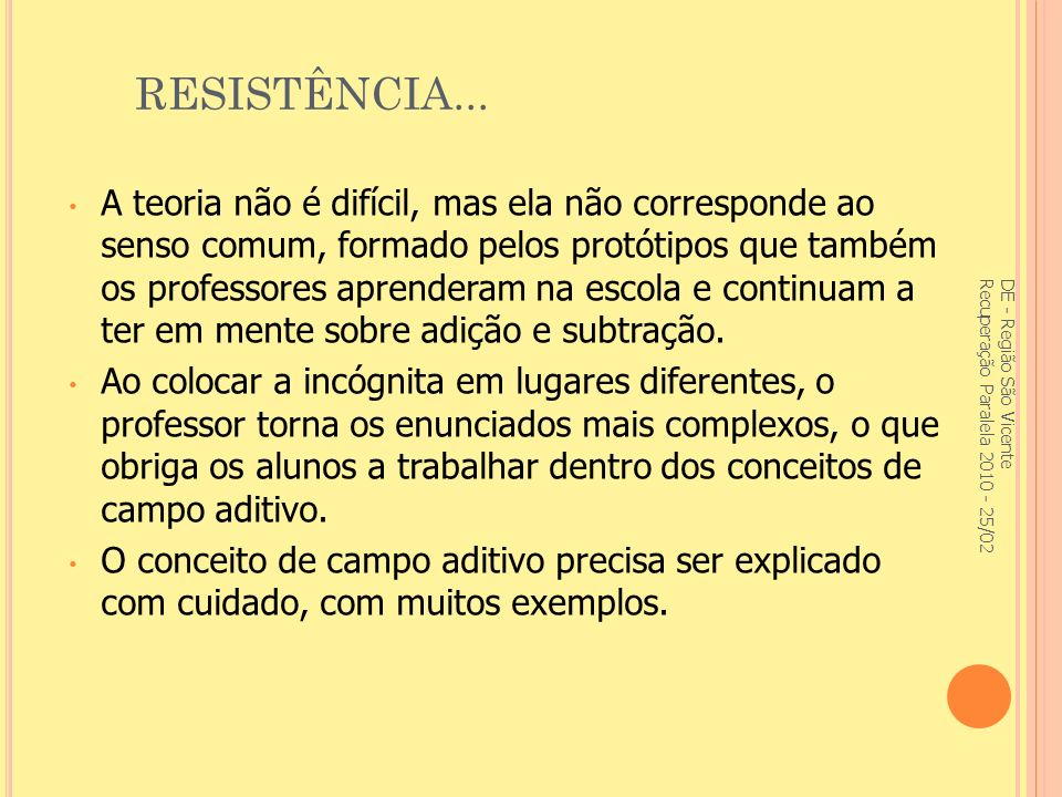 RESISTÊNCIA...