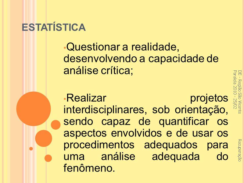 Questionar a realidade, desenvolvendo a capacidade de análise crítica;