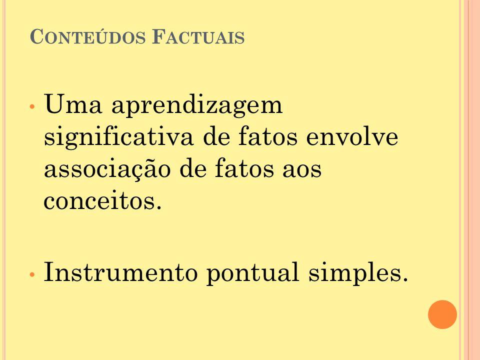 Instrumento pontual simples.