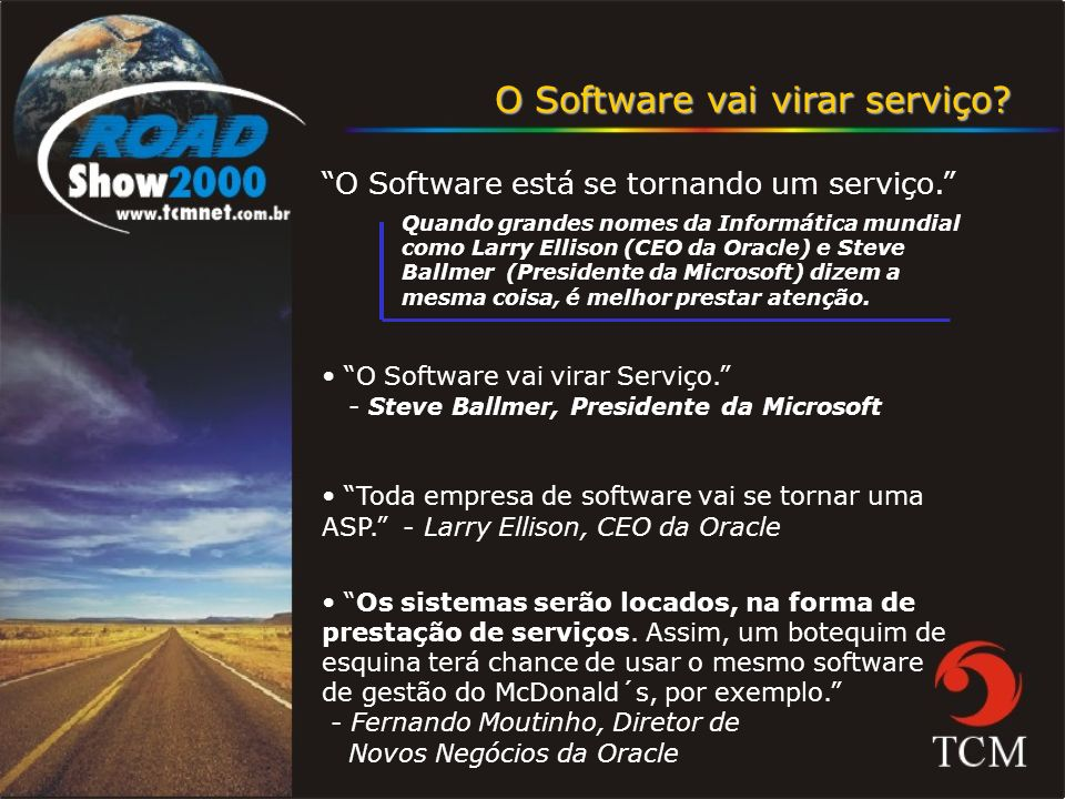 O Software vai virar serviço