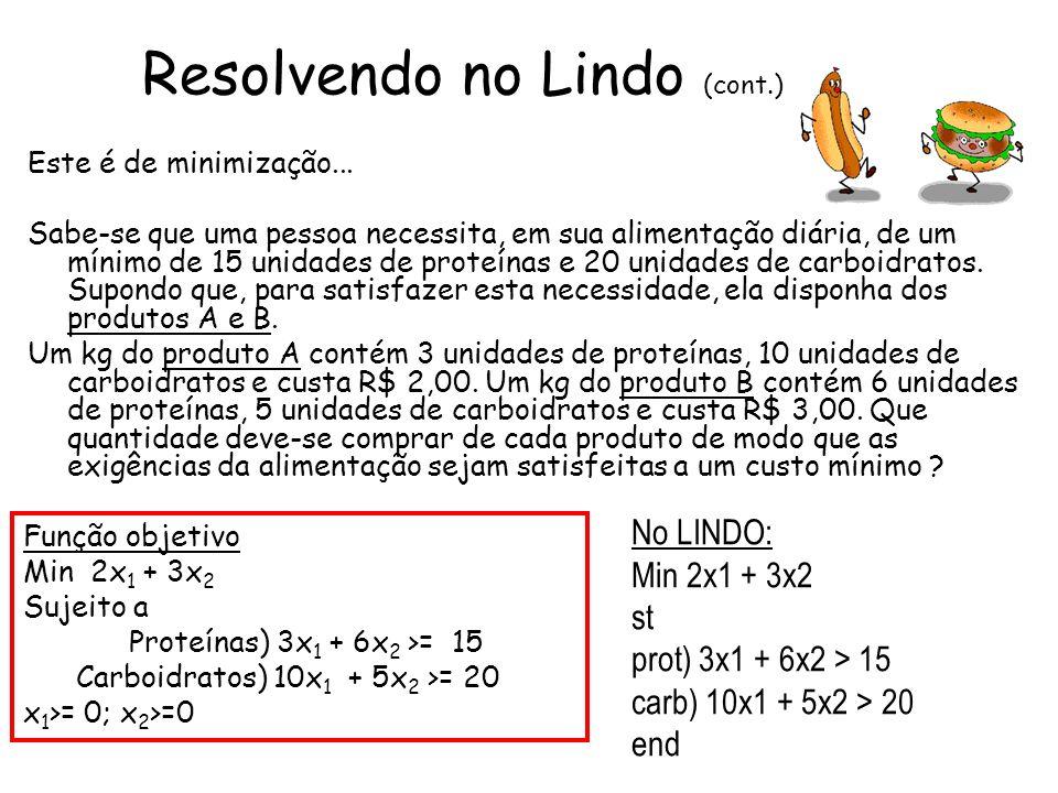 Resolvendo no Lindo (cont.)