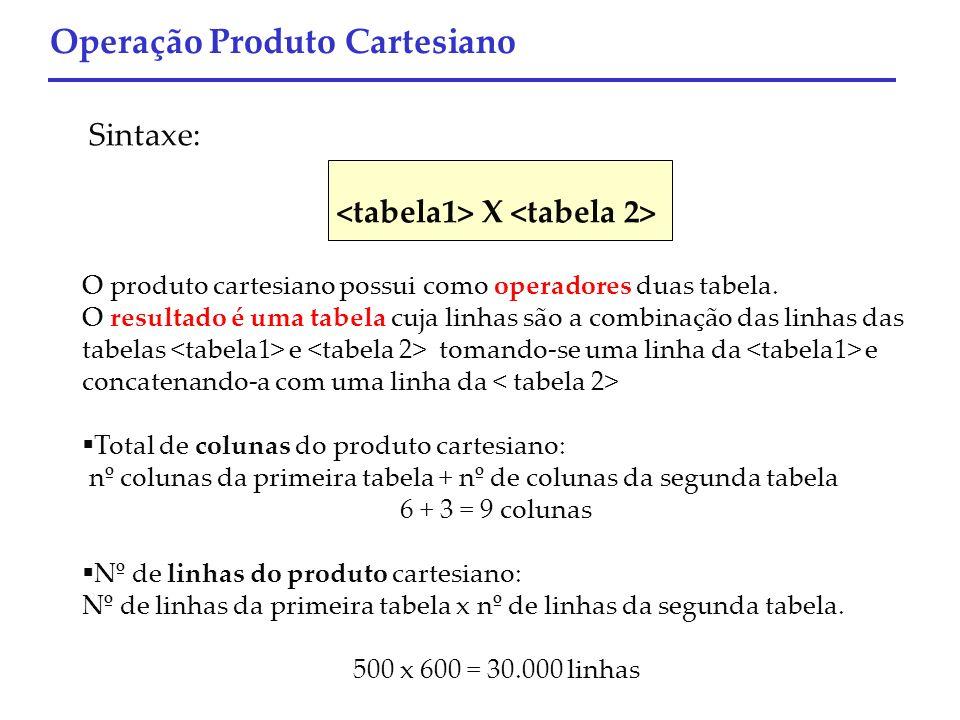 <tabela1> X <tabela 2>