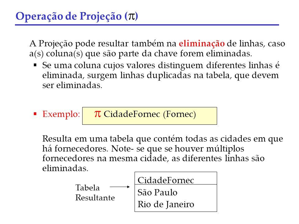 Operação de Projeção ()
