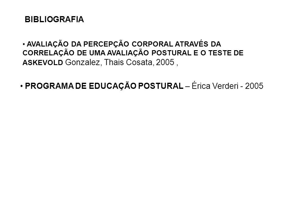PROGRAMA DE EDUCAÇÃO POSTURAL – Érica Verderi - 2005