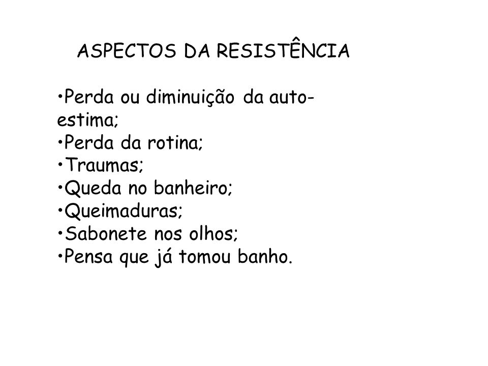 ASPECTOS DA RESISTÊNCIA
