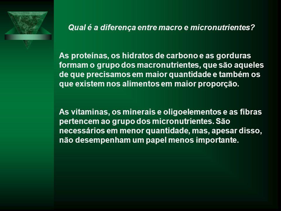 Qual é a diferença entre macro e micronutrientes