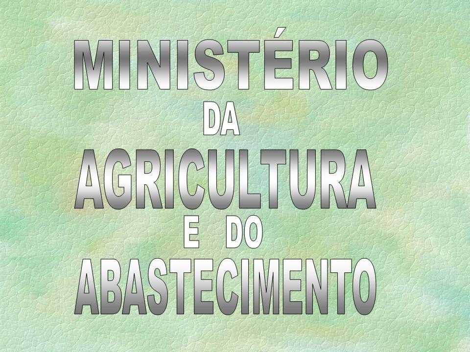 MINISTÉRIO DA AGRICULTURA E DO ABASTECIMENTO