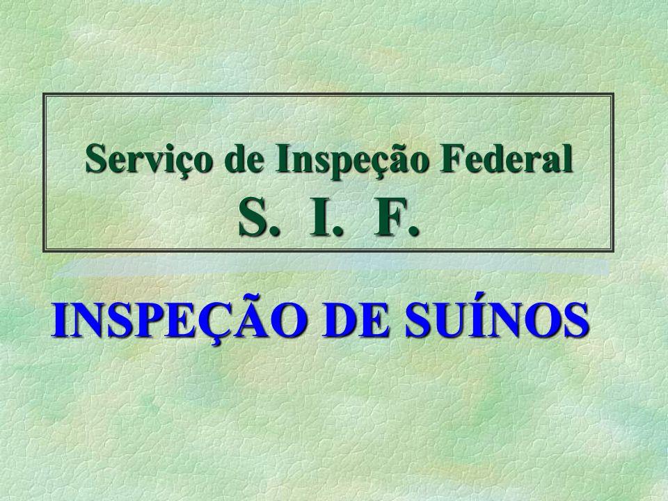 Serviço de Inspeção Federal S. I. F.