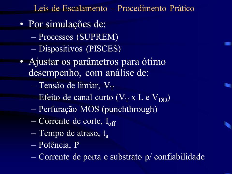 Leis de Escalamento – Procedimento Prático