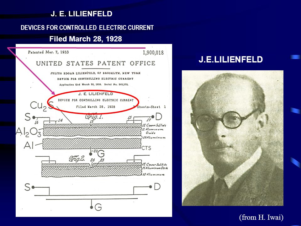 J.E.LILIENFELD J. E. LILIENFELD Filed March 28, 1928 (from H. Iwai)