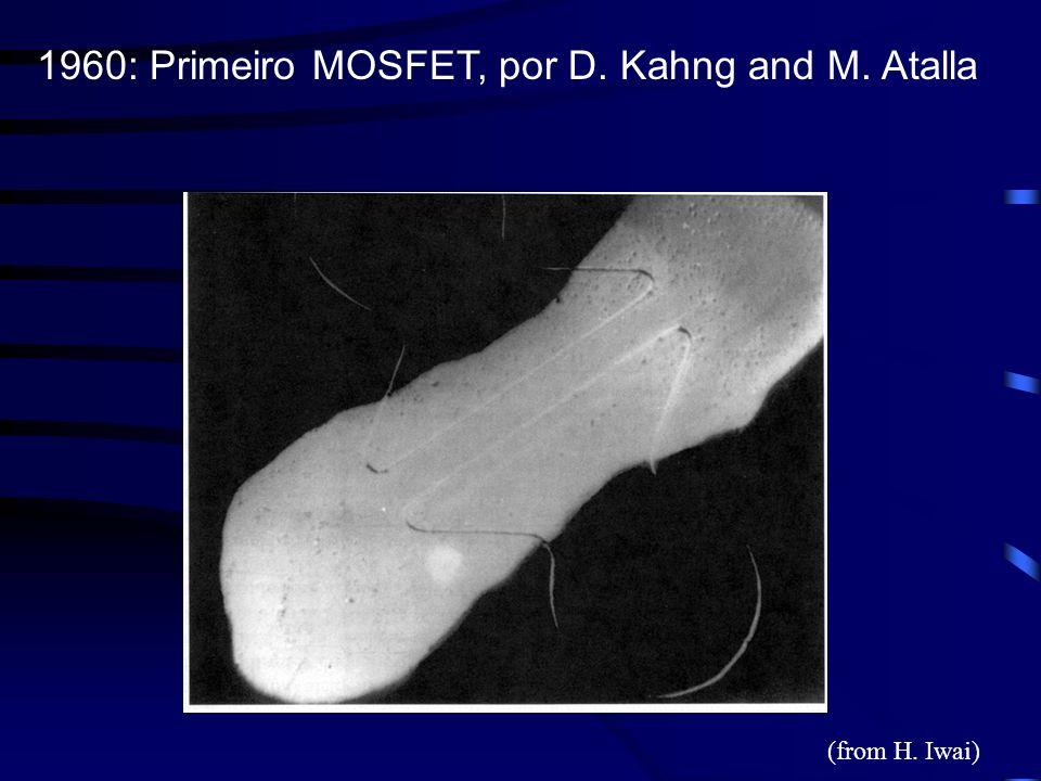1960: Primeiro MOSFET, por D. Kahng and M. Atalla