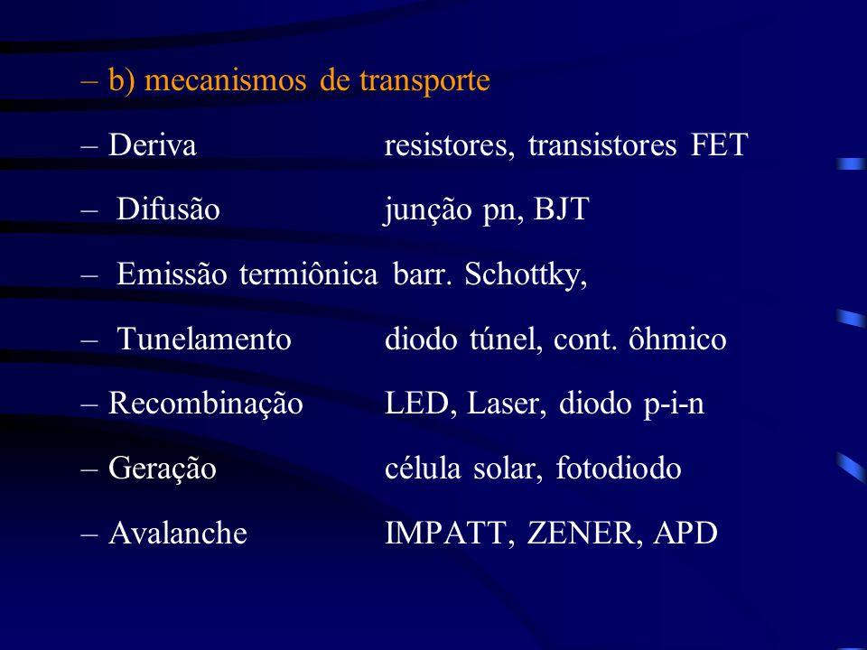 b) mecanismos de transporte