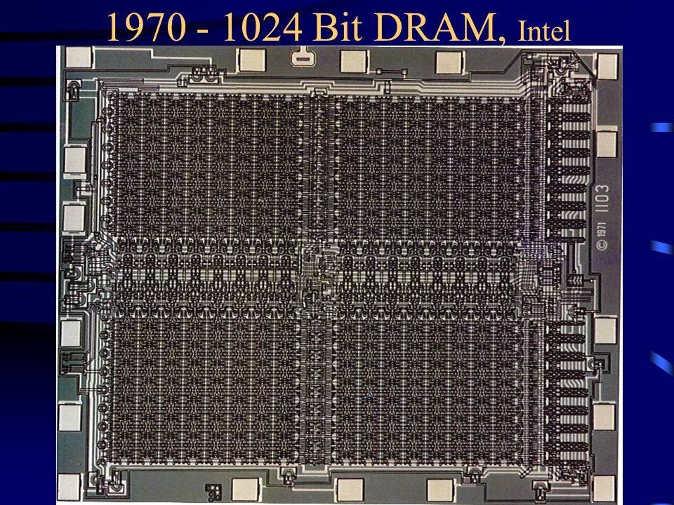 1970 - 1024 Bit DRAM, Intel