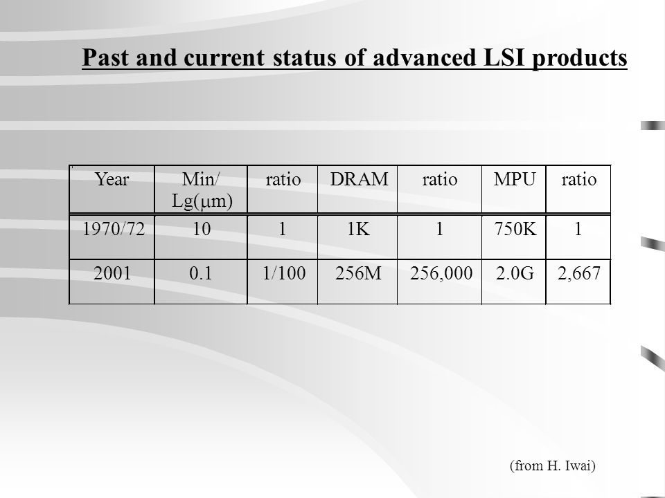 Past and current status of advanced LSI products