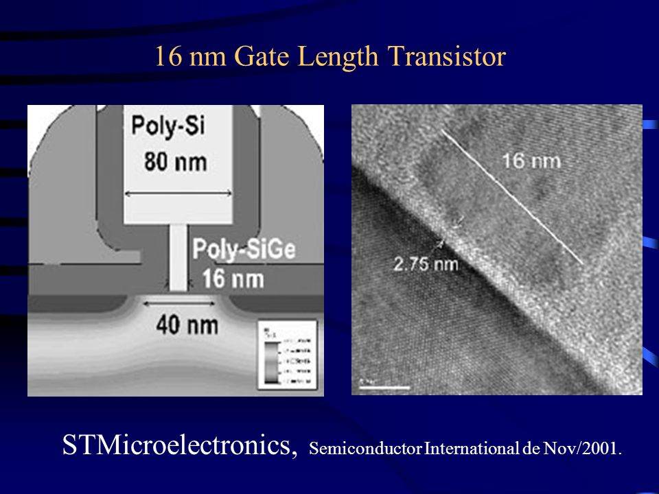 16 nm Gate Length Transistor