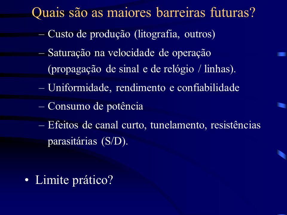 Quais são as maiores barreiras futuras
