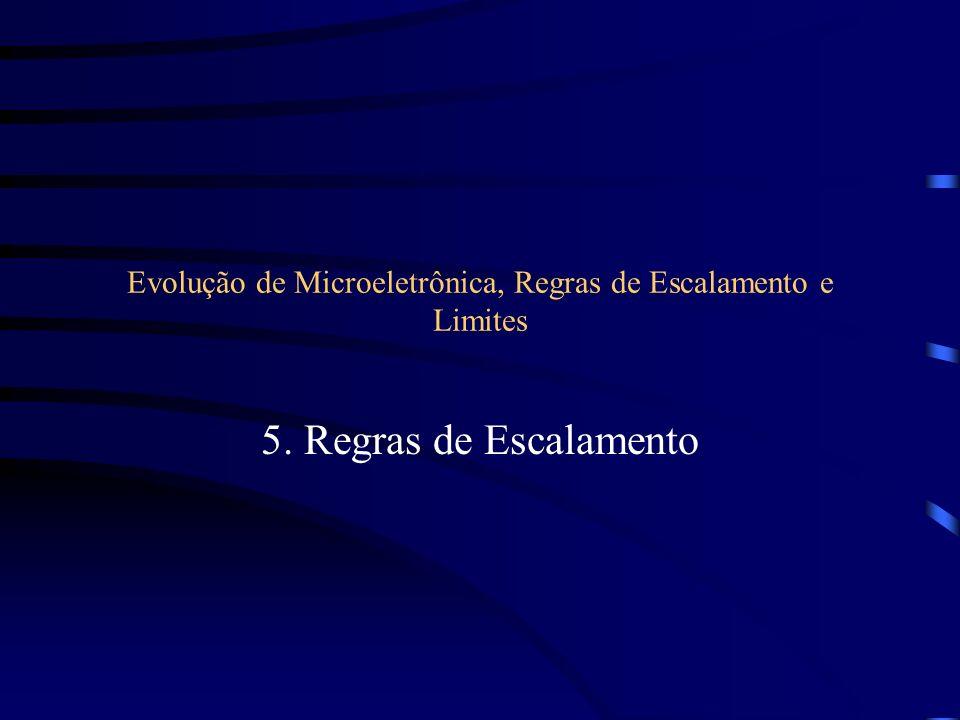 Evolução de Microeletrônica, Regras de Escalamento e Limites