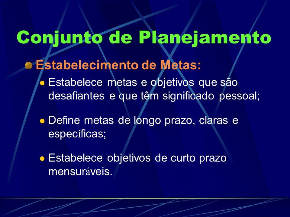 Conjunto de Planejamento