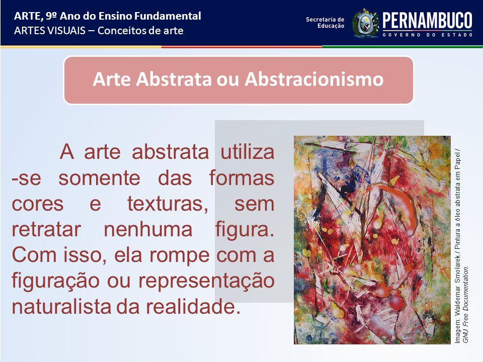 Formas abstratas e figurativas